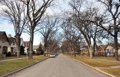 Privé huizen in Winnipeg Stock Fotografie