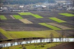 Privé land voor landbouwgebruik Stock Foto