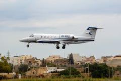 Privé Learjet-bedrijfsstraal stock foto's