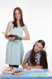 Privé-leraar met de student wordt geïmpliceerd die Stock Foto