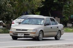 Privé Oude auto, Toyota Corolla royalty-vrije stock afbeelding