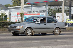 Privé Oude auto, Toyota Corolla royalty-vrije stock fotografie