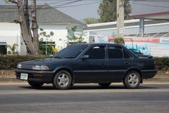 Privé Oude auto, Toyota Corolla royalty-vrije stock afbeeldingen