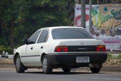 Privé Oude auto, Toyota Corolla stock fotografie