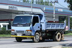 Privé Oude Isuzu Dump Truck Stock Afbeelding