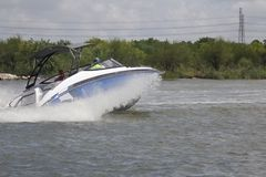 Privé roeien binnen in de Nassau Baai en Kemah Texas royalty-vrije stock afbeeldingen
