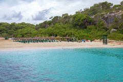 Privé strand Royalty-vrije Stock Afbeelding