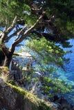 Privé strand Stock Fotografie