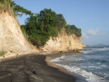 Privé strand op St Lucia Royalty-vrije Stock Afbeeldingen