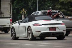 Privé Super auto, Porsche Royalty-vrije Stock Afbeeldingen