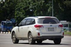 Privé Suv-auto, Subaru-Binnenland Stock Fotografie