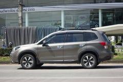 Privé Suv-auto, Subaru-Binnenland Stock Afbeeldingen