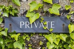 Privé teken royalty-vrije stock foto