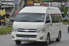 Privé van car Toyota bestelwagen royalty-vrije stock afbeeldingen