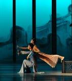 Privé vergadering in de rug de tuin-tweede handeling van de gebeurtenissen van dans drama-Shawan van het verleden Royalty-vrije Stock Foto's