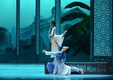 Privé vergadering in de rug de tuin-tweede handeling van de gebeurtenissen van dans drama-Shawan van het verleden Stock Afbeelding