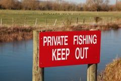 Privé visserijteken Royalty-vrije Stock Afbeeldingen