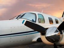 Privé Vliegtuig Stock Afbeelding