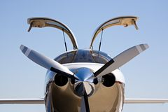 Privé vliegtuigen stock foto