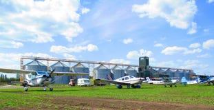Privé vliegtuigen, Kamenets Podolsky, de Oekraïne Royalty-vrije Stock Afbeeldingen