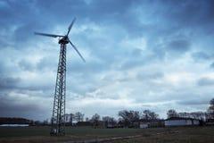 Privé windturbine Stock Afbeeldingen