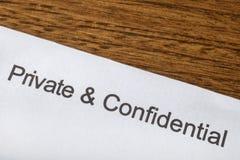 privé confidentiel Images stock
