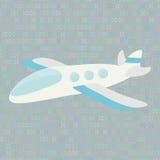 Privé vliegtuig op een abstracte achtergrond Stock Afbeelding