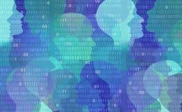 Privacidad de datos del usuario ilustración del vector