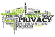 Privacidad de la nube de la palabra stock de ilustración