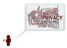 Privacidad de la persona Imágenes de archivo libres de regalías