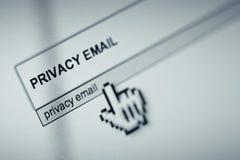 Privacidad del correo electrónico imagenes de archivo