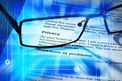 Privacidad en línea del ordenador Imagen de archivo libre de regalías
