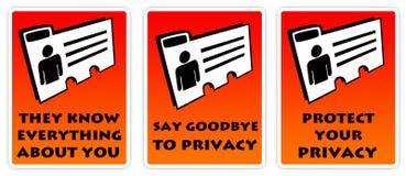 Privacidad personal stock de ilustración