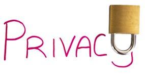 Privacidade com fechamento Imagem de Stock