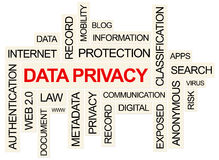 Privacidade de dados Imagem de Stock Royalty Free