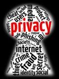 Privacidade do Internet Fotografia de Stock