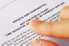 Privacidade e edições confidenciais Fotos de Stock