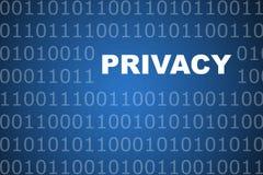 Privacidade em linha Fotografia de Stock
