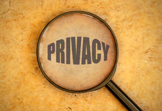 Privacy Royalty Free Stock Photography