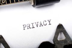 Privacy Stock Afbeelding