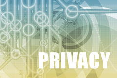 Privacy Abstract. Privacy Tech Abstract Background in Blue Color Stock Image