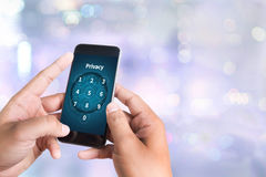 Privacy  Access Identification Password Passcode  and Privacy Royalty Free Stock Photos