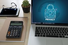 Privacy Access login PERFORMANCE Identification Password Passcod Stock Image