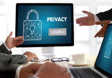 Privacy Access login PERFORMANCE Identification Password Passcod Royalty Free Stock Photos