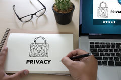 Privacy Access login PERFORMANCE Identification Password Passcod Stock Photo