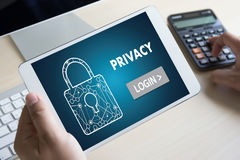 Privacy Access login PERFORMANCE Identification Password Passcod Royalty Free Stock Photo