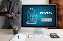 Privacy Access login PERFORMANCE Identification Password Passcod Stock Images