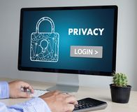 Privacy Access login PERFORMANCE Identification Password Passcod Royalty Free Stock Images