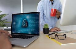 Privacy Access login PERFORMANCE Identification Password Passcod Royalty Free Stock Photography