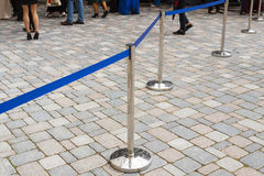 Privacy barrier, security at the event. Stock Image